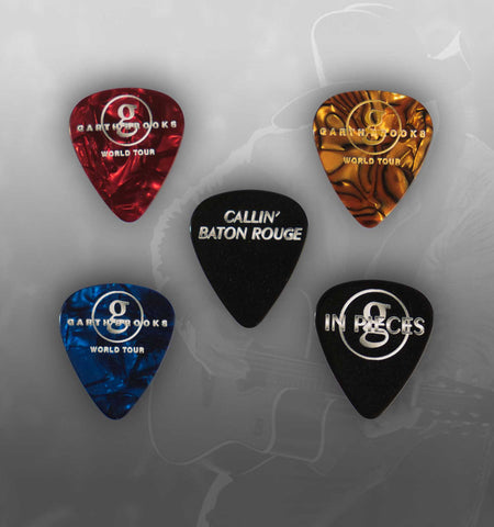 "World Tour Commemorative Pick Set  ""In Pieces"" & ""Callin' Baton Rouge"" with pick bag"