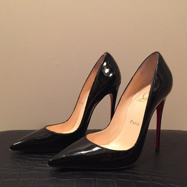 Christian Louboutin So Kate Black Patent Size 38