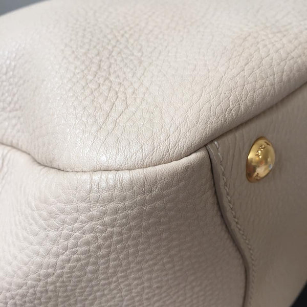 Prada Sabbia (Beige) Vitello Daino Hobo Bag