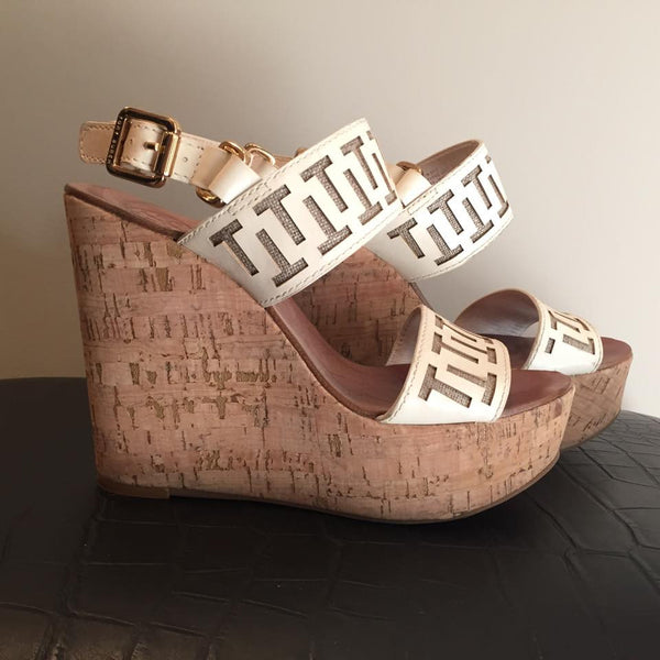 Tory Burch Cork Wedges Size 36.5