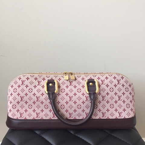 18f9ce4b32b7 Louis Vuitton Cherry Monogram Mini Lin Horizontal Alma Bag