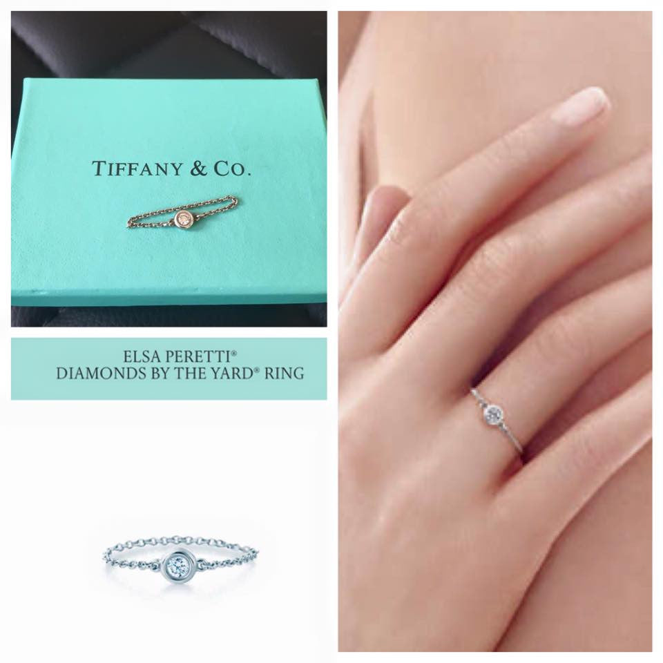 Elsa Peretti Diamonds by the Yard ring in sterling silver - Size 4 Tiffany & Co. 15iHnAb
