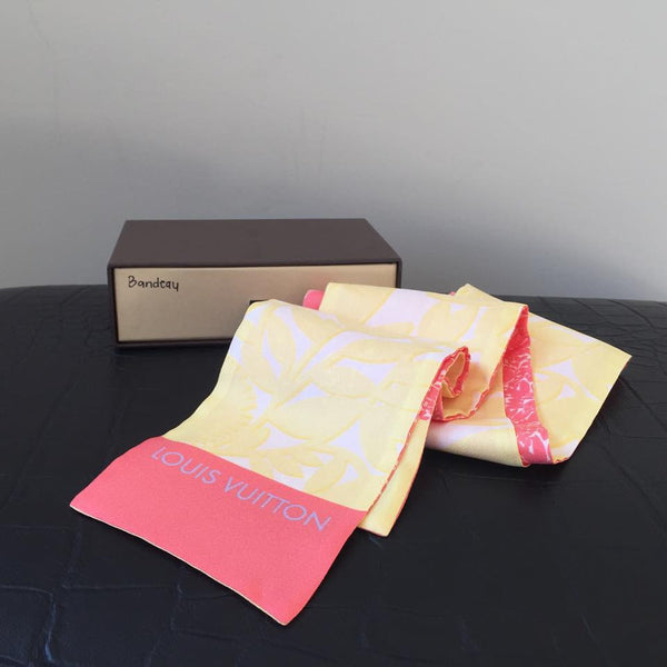 Louis Vuitton Silk Yellow/Coral Bandeau