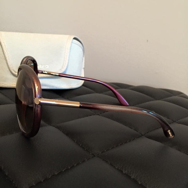 Tom Ford Clothilde TF162 in 59F Bordeaux Gradient Bronze