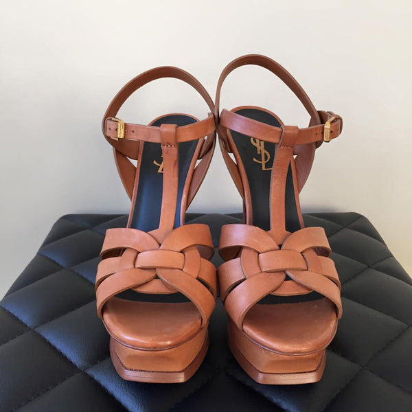 Saint Laurent Tributes in Woodstock Ambra Size 38
