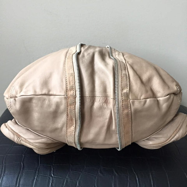 Alexander Wang Donna Zipped Hobo Bag in Sand