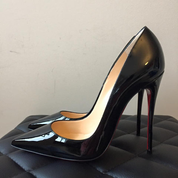 Christian Louboutin Black Patent So Kate Size 38
