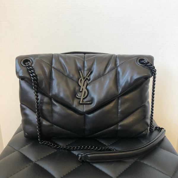 Saint Laurent Black Small LouLou Puffer Chain Crossbody/Shoulder Bag