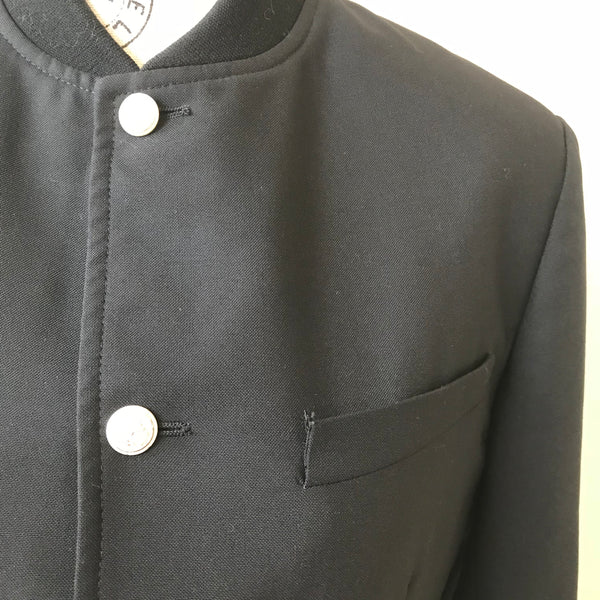 Dior Men's Black Runway Button Up Jacket Size 46 (US 36 or Small)