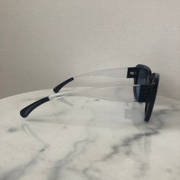 Chanel Navy Blue Clear Gradient Sunglasses