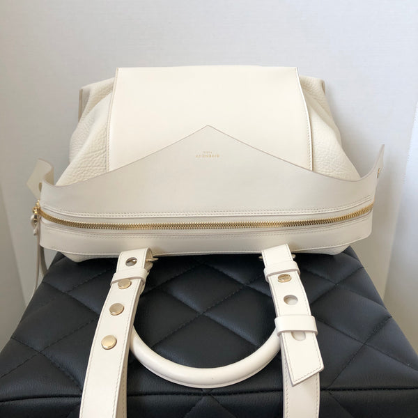 Givenchy Off White Medium Sway Smooth and Textured Crossbody/Shoulder Bag