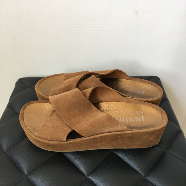 Pedro Garcia Brown Suede Sandals Size 38.5