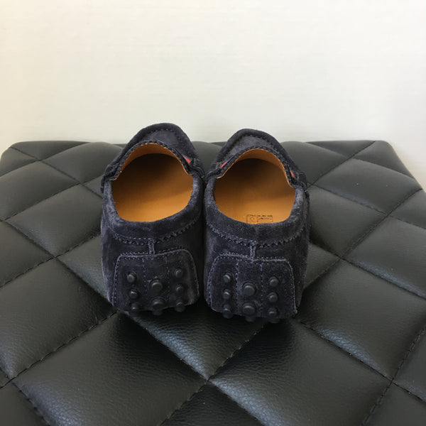 Gucci Kids Navy Suede Dandy Loafers Size 28