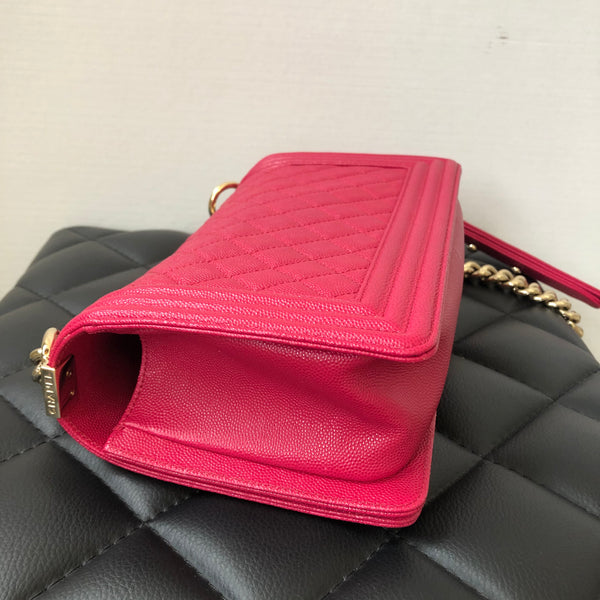 Chanel Pink Caviar Old Medium GHW Boy Bag