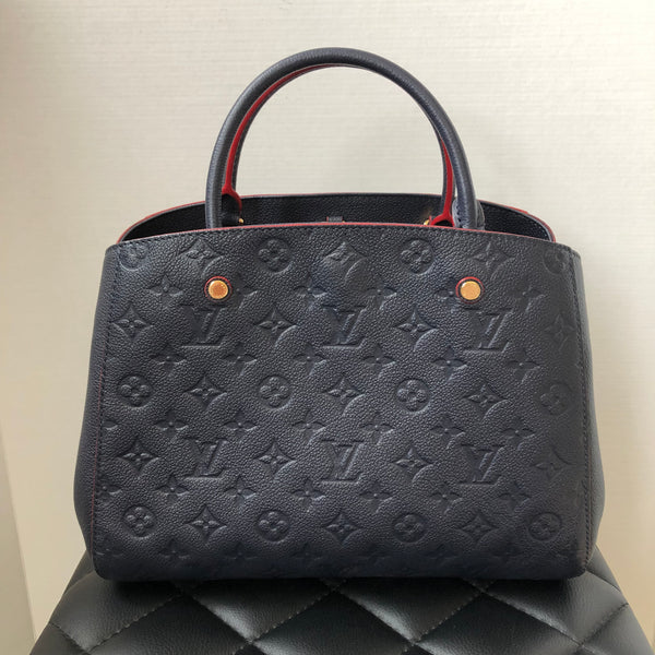 Louis Vuitton Montaigne MM Monogram Empreinte MARINE ROUGE