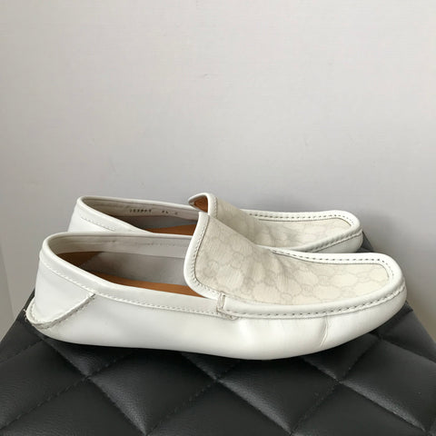 Gucci Men's Ivory Loafers Size 9.5 (fits US 10.5)