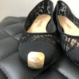 Chanel Black Lace Flats Size 35