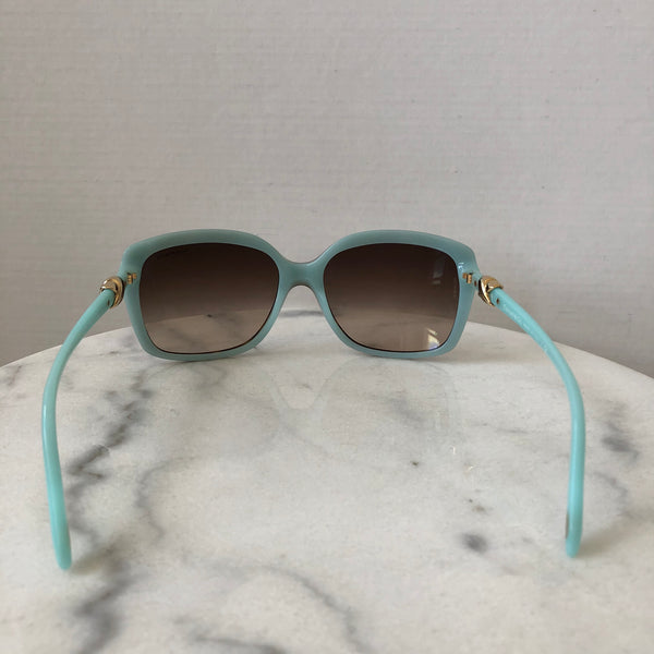 Tiffany Tortoise Brown/Blue Square Sunglasses