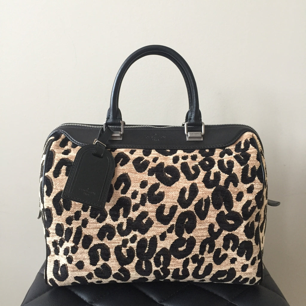 76ec60e1d70a Louis Vuitton Limited Edition Leopard Canvas Speedy 30