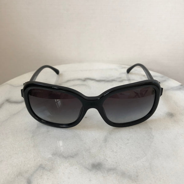 Chanel Black Bow Sunglasses