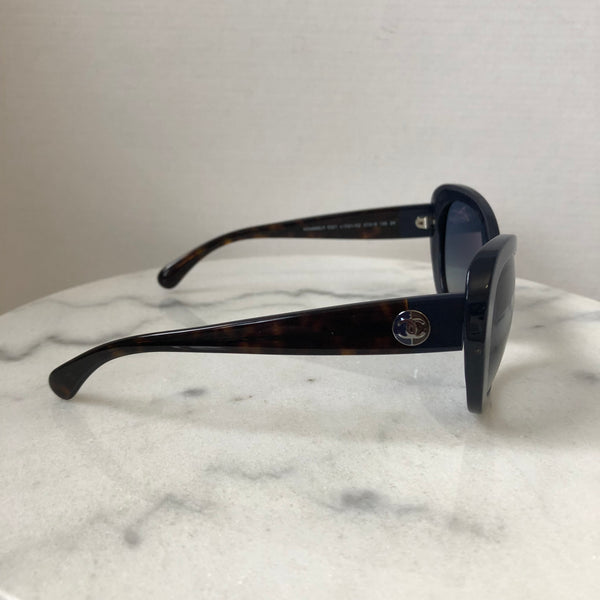 Chanel Blue/Tortoise Sunglasses