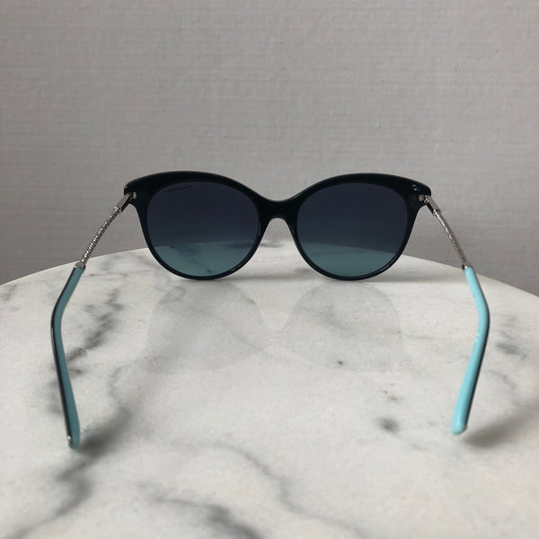 Tiffany Black/Silver Butterfly Sunglasses