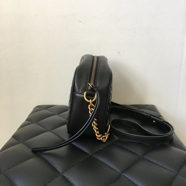 Gucci Black GG Marmont Small Crossbody Bag
