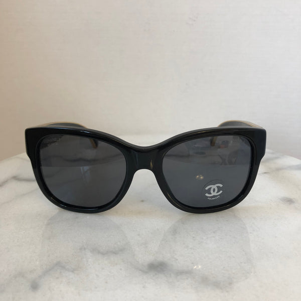 Chanel Black/Gold Sunglasses