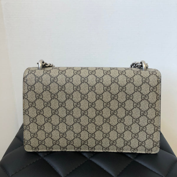 Gucci Dionysus Supreme Black/Beige Small GG shoulder bag