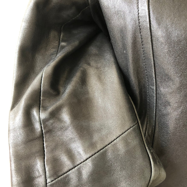 Mackage Black Leather Biker Jacket Size Small