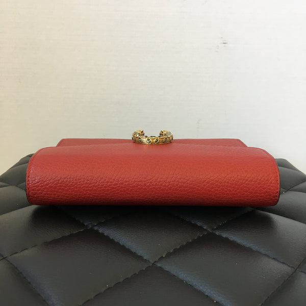 Gucci Dionysus Red Leather Mini Chain WOC/Crossbody Bag