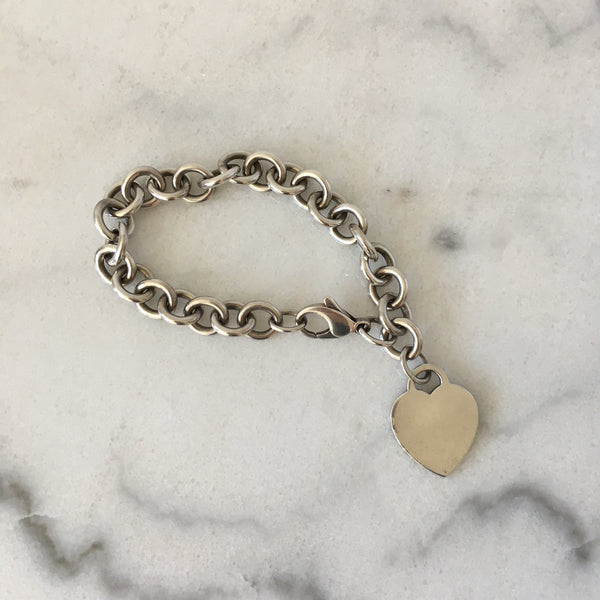 Tiffany Silver Heart Tag Bracelet