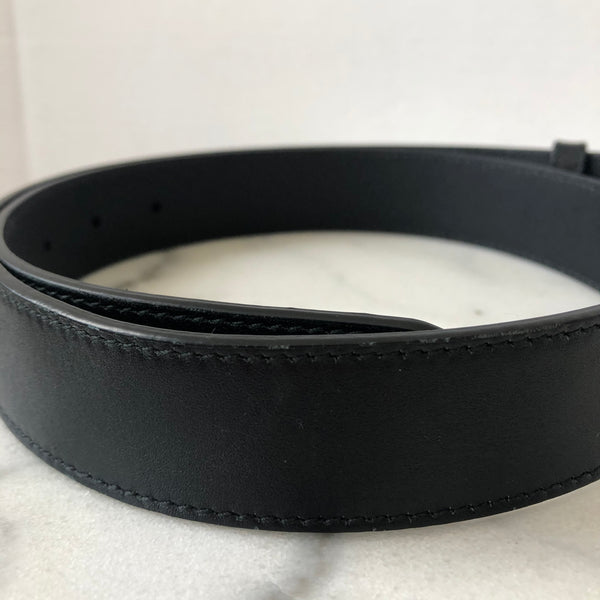Gucci GG Black / Gold Marmont Belt Size 80/32