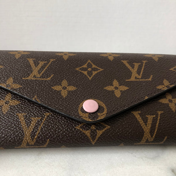 LOUIS VUITTON Monogram Rose Ballerine Josephine Wallet with Removable Pouch