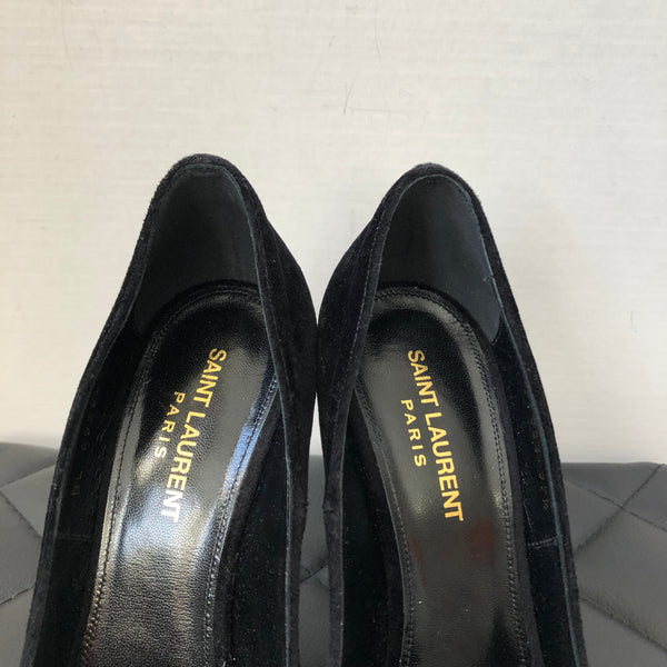 Saint Laurent Black Velvet Anja 105 Pumps Size 37.5