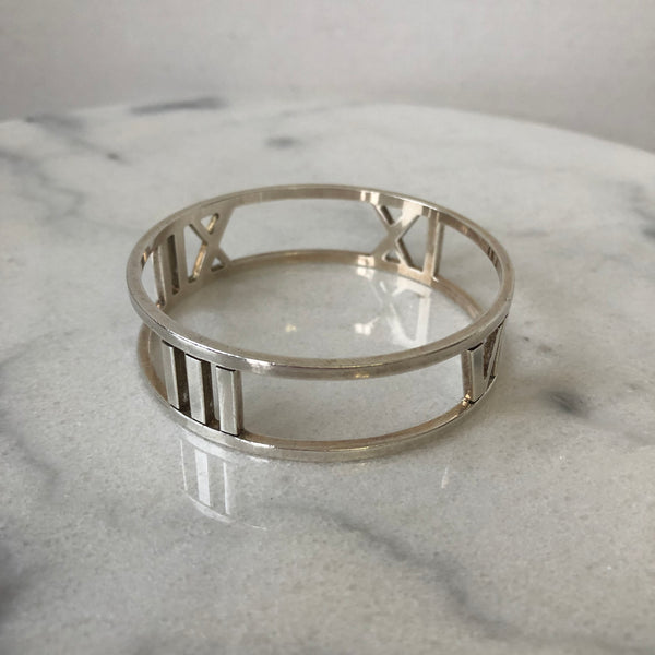 Tiffany Sterling Silver Wide Atlas Bracelet
