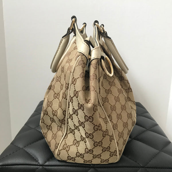 Gucci Medium Monogram Sukey Canvas Shoulder Bag