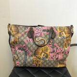 GUCCI GG Supreme Monogram Medium Bengal Print Soft Crossbody/Shoulder Tote