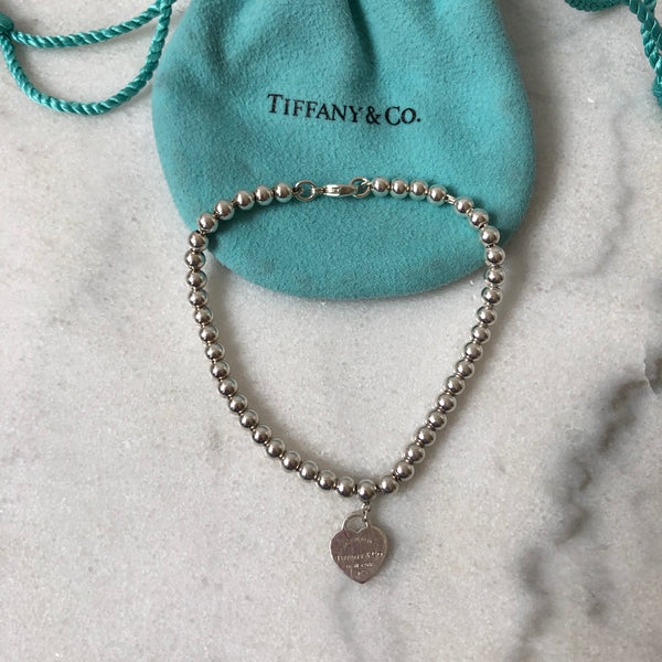 Tiffany Mini Heart Bead Bracelet