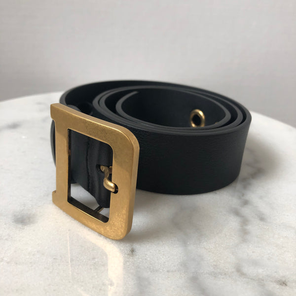 Dior Black Runway Belt Size 80