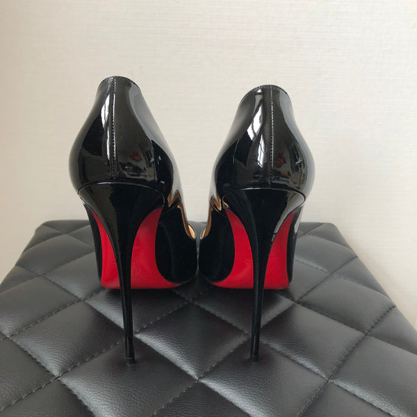 Christian Louboutin Black Patent So Kate 120 Pumps Size 42