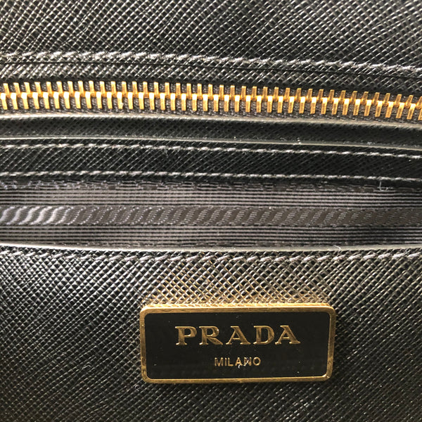 Prada Black Galleria Large Saffiano Lux Leather Bag