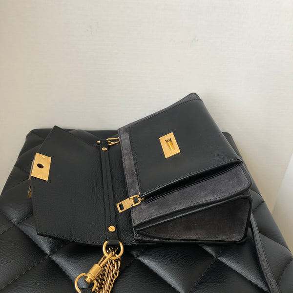 Givenchy Black/Grey Small GV3 Crossbody/Shoulder Bag