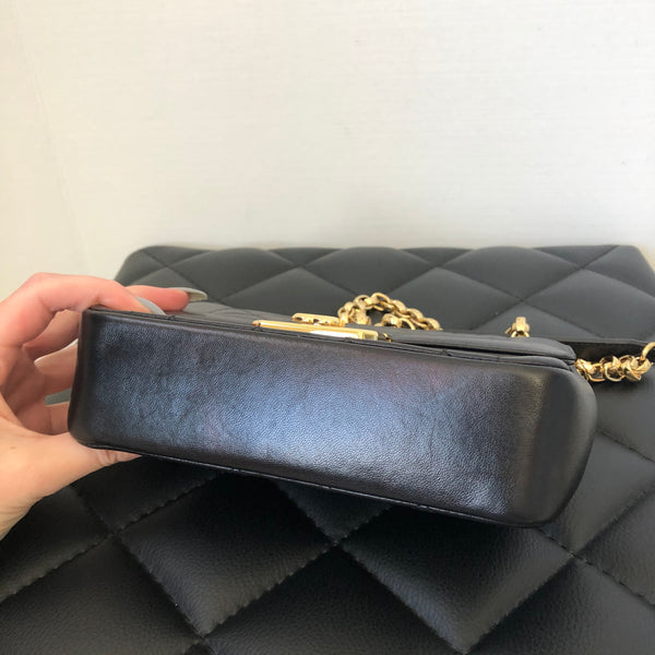 Chanel Black Lambskin Mini Chic With Me Flap Bag