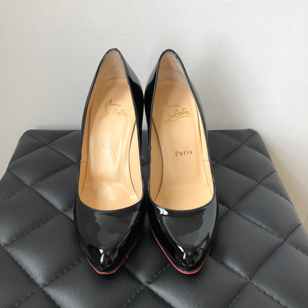 Christian Louboutin Black Patent Décolleté 868 100 Pumps Size 36