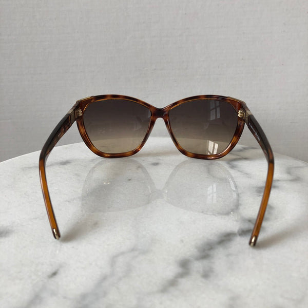 Chloe Tortoise Frame Brown Gradient Sunglasses