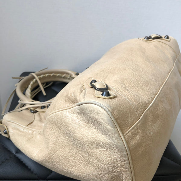 Balenciaga Cream Velo Crossbody Bag