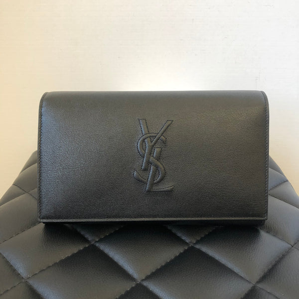 Saint Laurent Black Wallet on Chain/Clutch