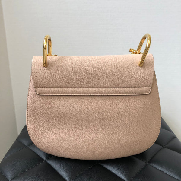 Chloe Cement Pink Small Drew Crossbody Bag