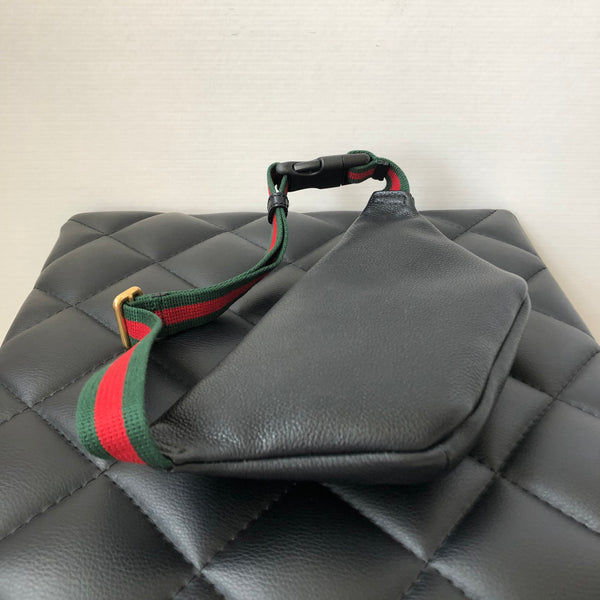 Gucci Black Logo Print Small Belt Bag